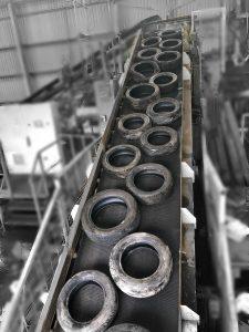 Tyre Recycling Belt Loading